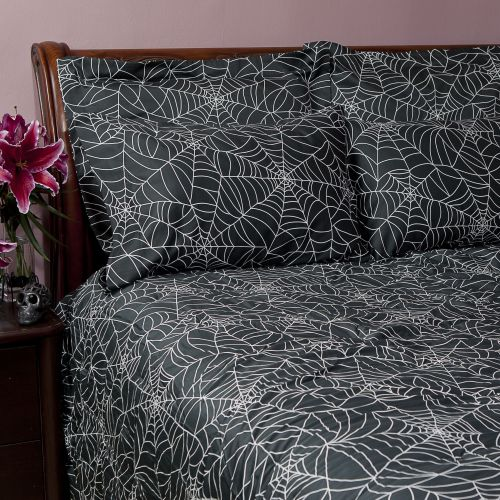 Spider Web Sheet Sets - Halloween Decor by Sin in Linen